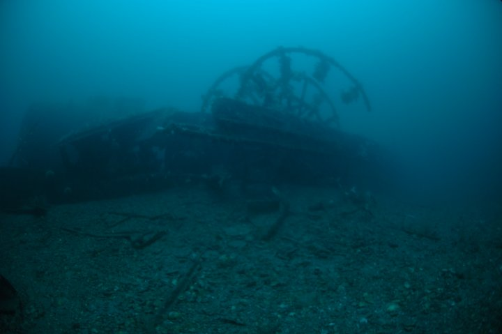 Part of the paddle wheel. Photo Peter Rowlands