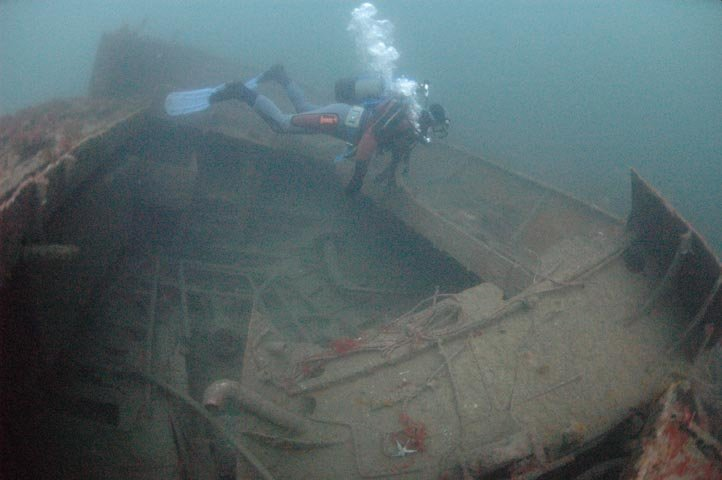 Swimming over the wreck.Photos P.Rowlands.
