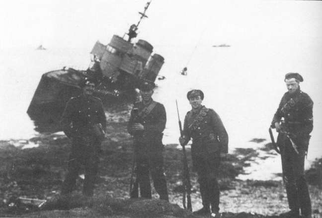 Probably not the S54, but you can see that this is how she was beached.