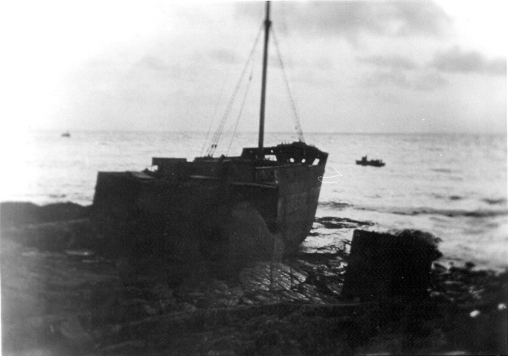 The Vectis after the Christmas Hurricane.