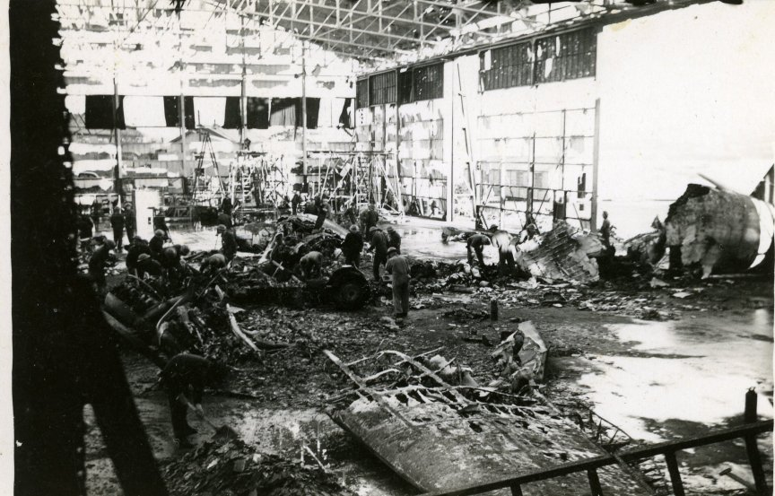 The aftermath of the bombing.