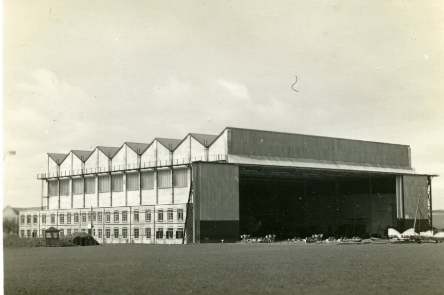 The hanger before the bombing.