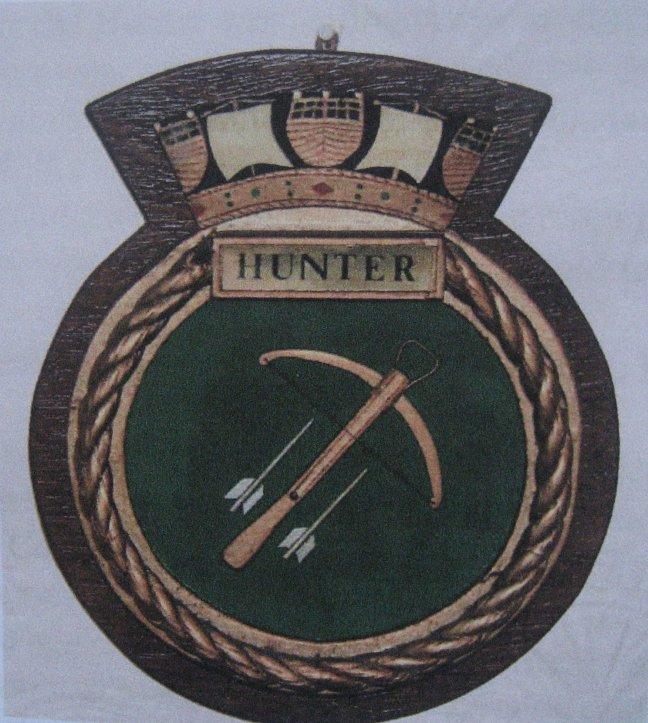 H.M.S.Hunter's crest
